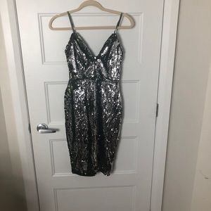 Hot Miami styles sequin dresss